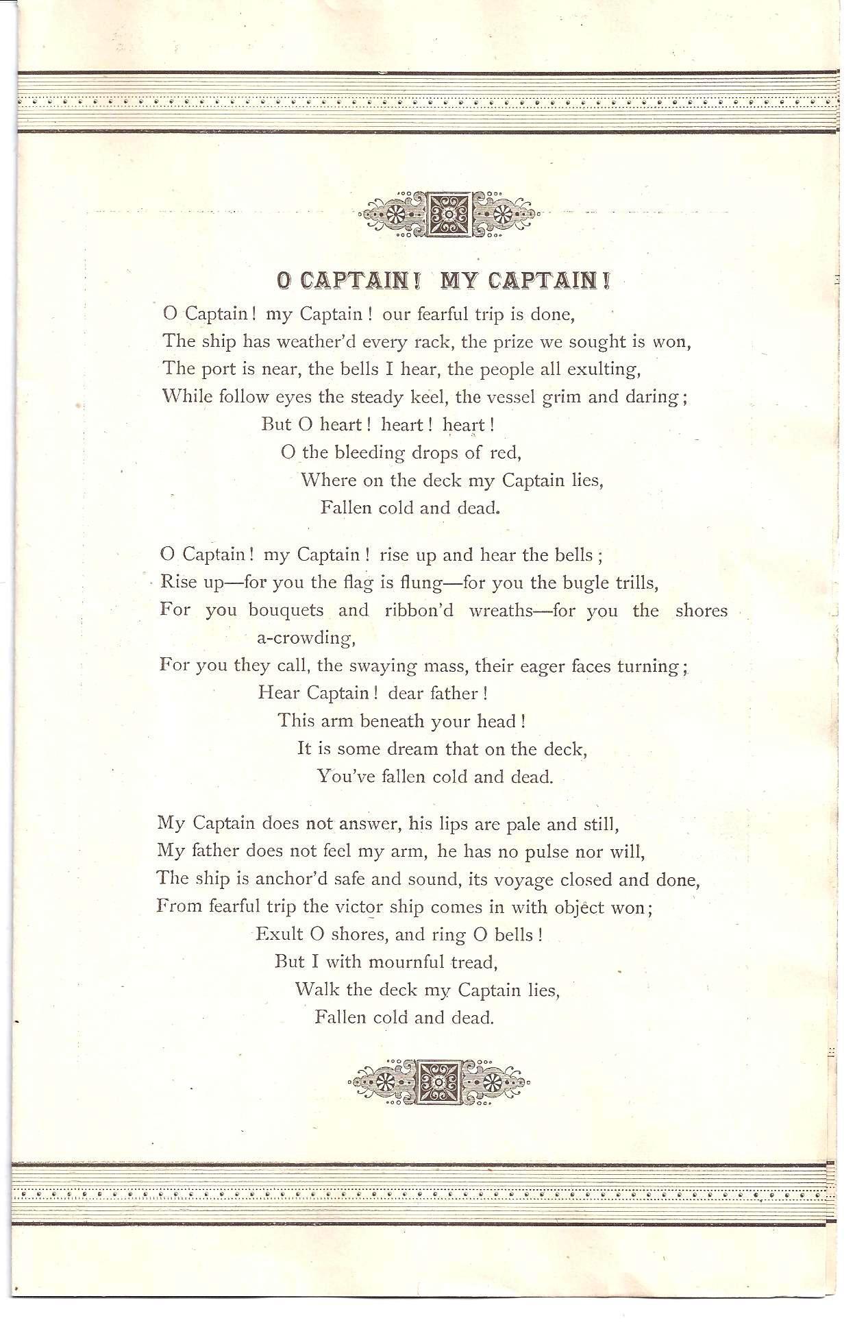 Walt Whitman -120 Years