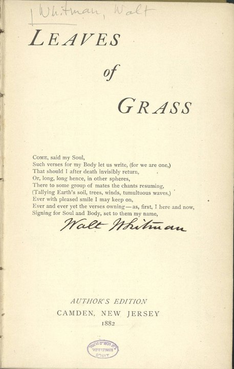 Walt Whitman 120 Years