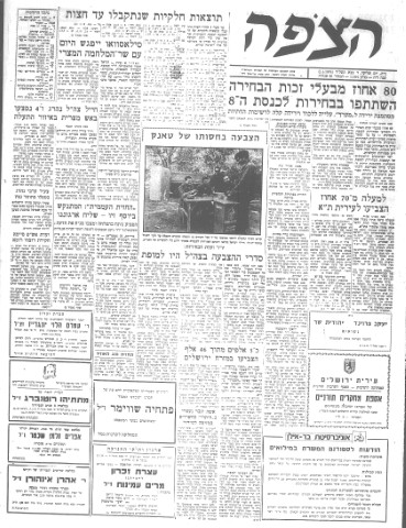 1973 Elections – Press