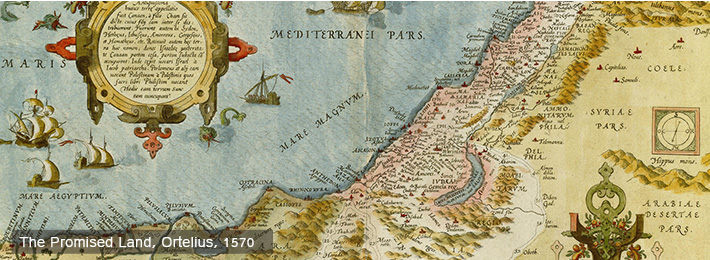 The Promised Land. Ortelius, 1570.