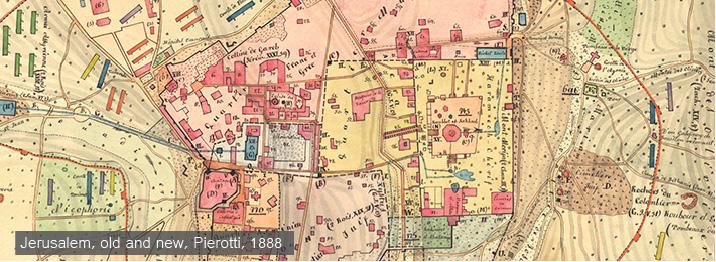 Jerusalem Center Of The World Map.Eran Laor Cartographic Collection
