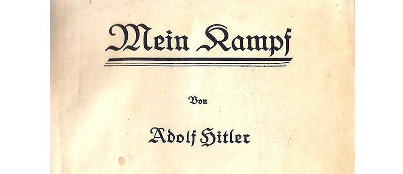 "9/12-16/12/15: Between Ideology and Racism: ""Mein Kampf"" by Adolf Hitler, 1924-1926"