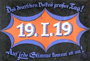 Elections Placard for the German National Assembly, 1919