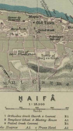 Map of Haifa, 1917