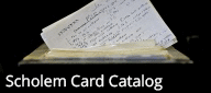 Gershom Scholem Card Catalog