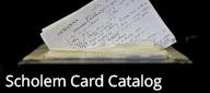Gershom Scholem Card Catalog